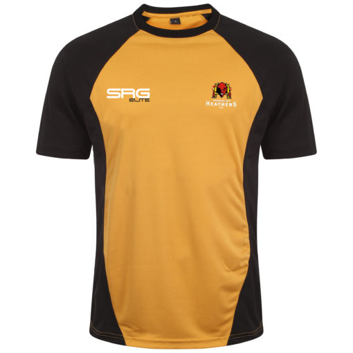 Training Tee BlackAmber (Front) copy